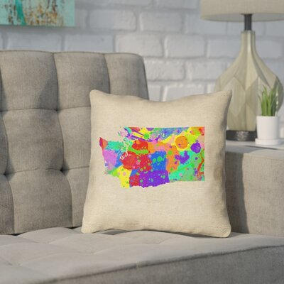 Sherilyn Washington Throw Pillow Size: 14 x 14, Material: Spun Polyester, Color: Green/Blue