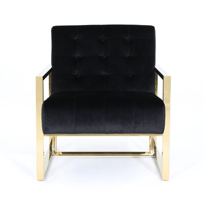 Elsa Armchair Upholstery: Black