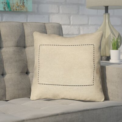 Sherilyn Wyoming Dash Outline Outdoor Throw Pillow Size: 20 x 20