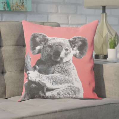 Clower Koala Cotton Throw Pillow