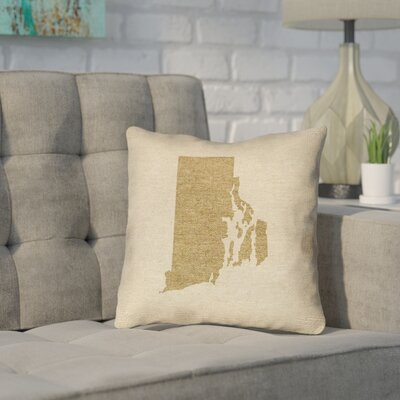Sherilyn Rhode Island Throw Pillow Size: 14 x 14, Material: Spun Polyester, Color: Brown