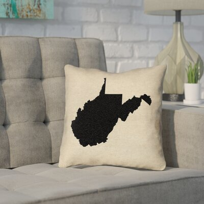 Sherilyn West Virginia Throw Pillow Color: Black, Size: 18 x 18
