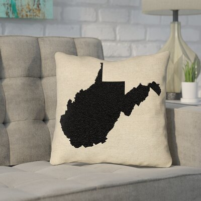Sherilyn West Virginia Throw Pillow Color: Black, Size: 16 x 16