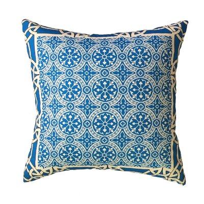 Cousar Bordered Throw Pillow Color: Blue
