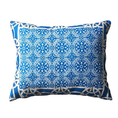 Courts Bordered Throw Pillow Color: Blue
