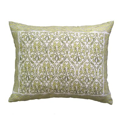 Craighead Bordered Throw Pillow Color: Green
