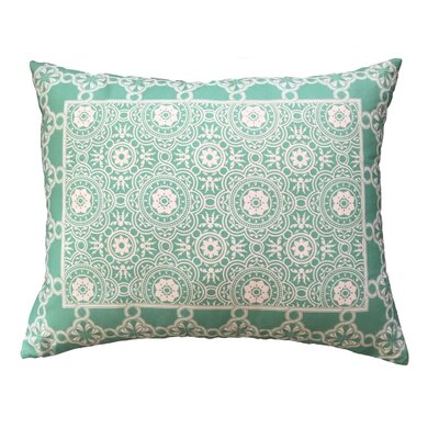 Coulombe Bordered Throw Pillow Color: Sea Foam
