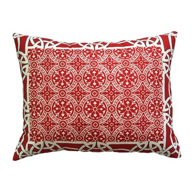 Courts Bordered Throw Pillow Color: Cherry