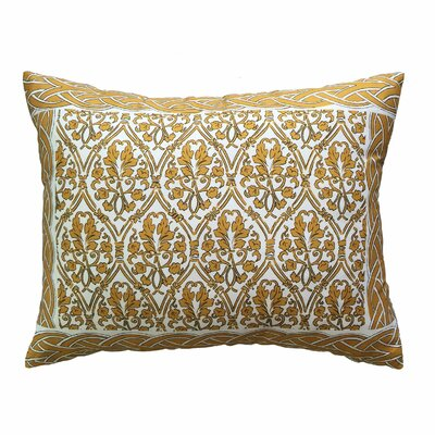 Craighead Bordered Throw Pillow Color: Gold