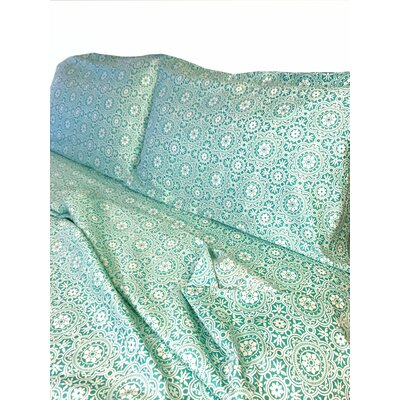 Credle 300 Thread Count Sheet Set Color: Sea Foam, Size: Queen