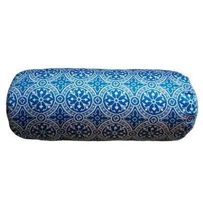 Cotter Non Bordered Neck Roll Throw Pillow Color: Blue