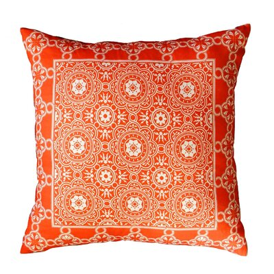 Coulson Bordered Throw Pillow Color: Coral