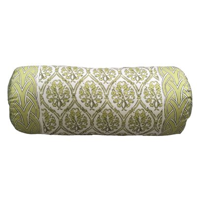 Craver Bordered Neck Roll Throw Pillow Color: Green