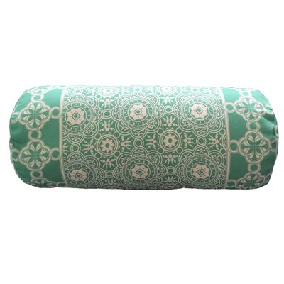 Coulter Bordered Neck Roll Throw Pillow Color: Sea Foam