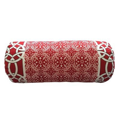 Coutu Bordered Neck Roll Throw Pillow Color: Cherry