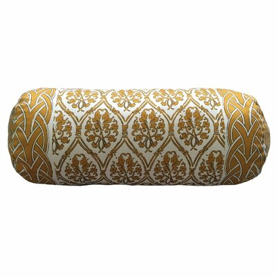 Craver Bordered Neck Roll Throw Pillow Color: Gold