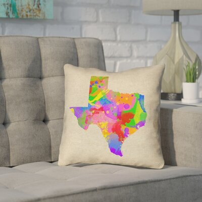 Sherilyn Texas Throw Pillow Size: 16 x 16, Material: Spun Polyester, Color: Green/Blue