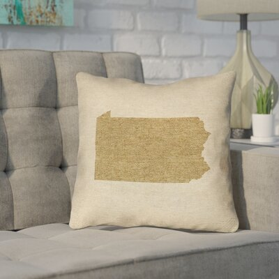 Sherilyn Pennsylvania Throw Pillow Size: 16 x 16, Color: Brown