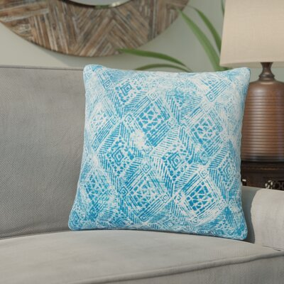 Azucena Outdoor Throw Pillow Color: Blue, Size: 18 H x 18 W