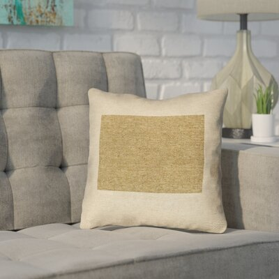Sherilyn Wyoming Throw Pillow Color: Brown, Size: 18 x 18, Type: Throw Pillow