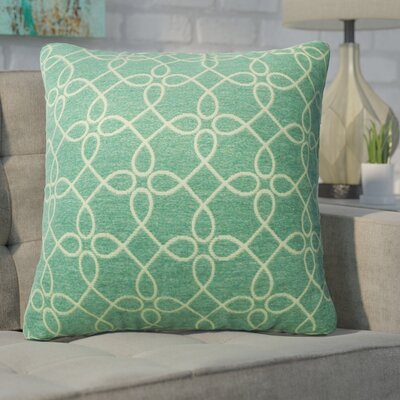 Defino Spirograph Throw Pillow Color: Teal
