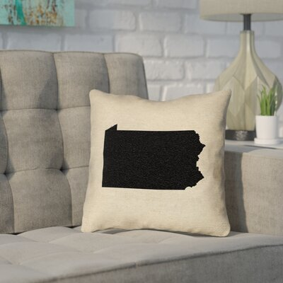 Sherilyn Pennsylvania Throw Pillow Size: 18 x 18, Material: Spun Polyester, Color: Black