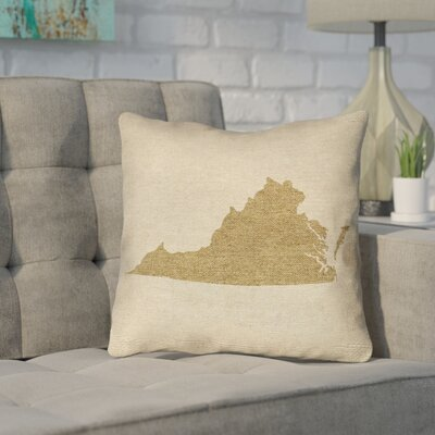 Sherilyn Virginia Throw Pillow Size: 16 x 16, Color: Brown