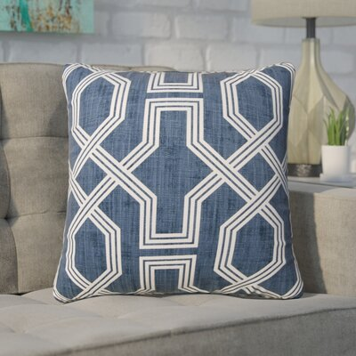 Keister 100% Cotton Throw Pillow Color: Blue