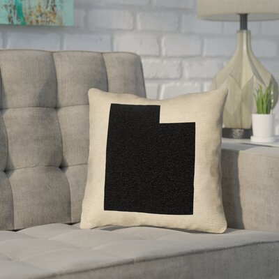 Sherilyn Utah Throw Pillow Size: 14 x 14, Material: Spun Polyester, Color: Black
