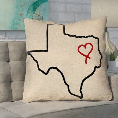 Sherilyn Texas Love Double Sided Print Size: 28 x 28, Type: Floor Pillow