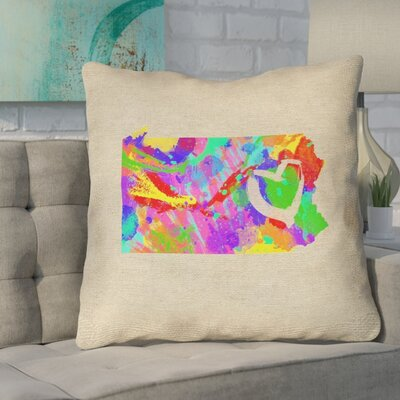 Sherilyn Pennsylvania Love Size: 14 x 14, Type: Throw Pillow