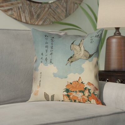 Yasmina Cuckoo and Azaleas Pillow Cover Size: 18 x 18