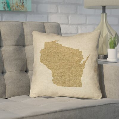 Sherilyn Wisconsin Throw Pillow Color: Brown, Size: 18 x 18