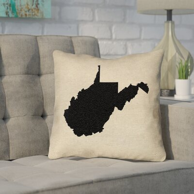Sherilyn Vermont Throw Pillow Color: Black, Size: 16 x 16