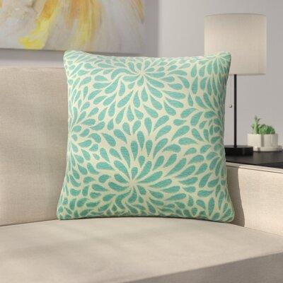 Tessier Chrysanthemum Throw Pillow Color: Teal