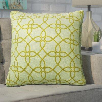 Defino Spirograph Throw Pillow Color: Yellow