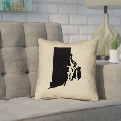 Sherilyn Rhode Island Throw Pillow Size: 14 x 14, Material: Spun Polyester, Color: Black