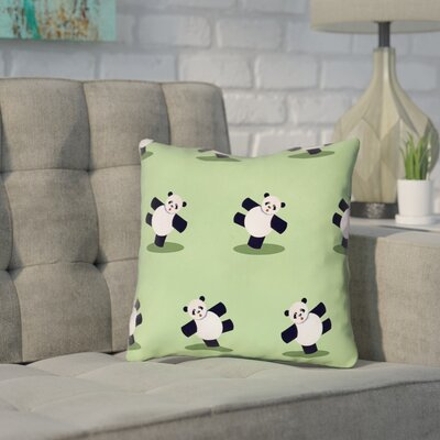 Pecora Panda Throw Pillow Size: 18 x 18