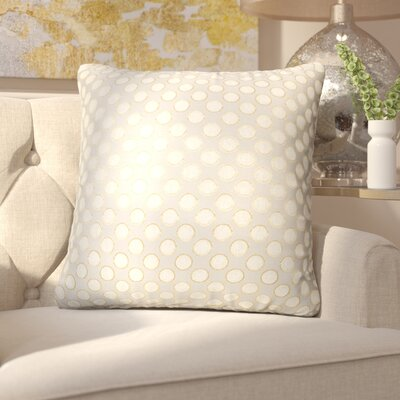 Clairsville Dots Gold Line Throw Pillow Color: Rose