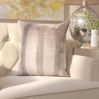 Tadashi Contemporary Velvet Throw Pillow Color: Dark Gray