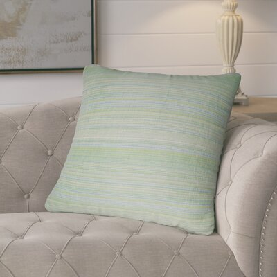 Jayde Woven Stripes Decorative Outdoor Throw Pillow Color: Light Green