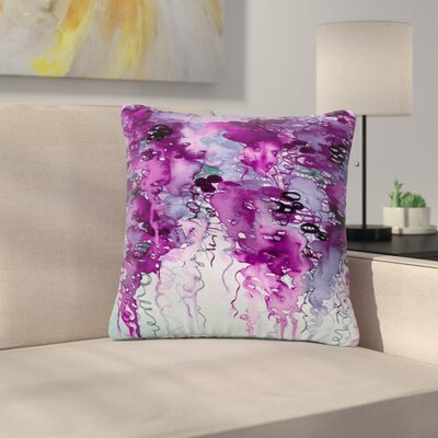 Ebi Emporium Beauty in the Rain Outdoor Throw Pillow Size: 18 H x 18 W x 5 D, Color: Purple
