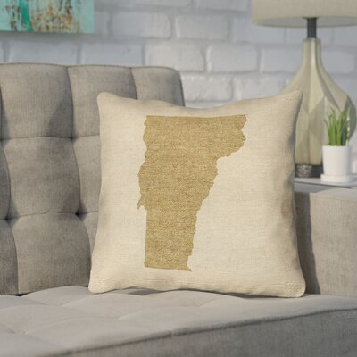 Sherilyn Vermont Throw Pillow Size: 20 x 20, Color: Brown