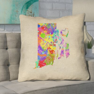 Sherilyn Rhode Island Love Size: 18 x 18, Type: Throw Pillow