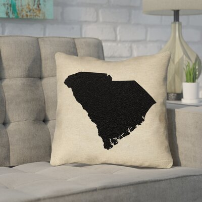 Sherilyn South Carolina Outdoor Throw Pillow Size: 18 x 18, Color: Black