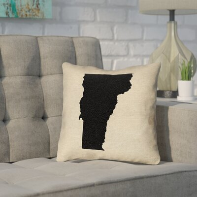 Sherilyn Vermont Throw Pillow Size: 14 x 14, Material: Spun Polyester, Color: Black