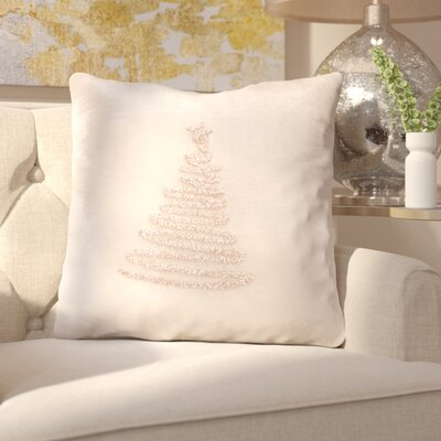 Briggsvale Enchanted Evergreen Throw Pillow Color: Peach