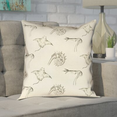 Enciso Vintage Nautical Pattern Throw Pillow Size: 20