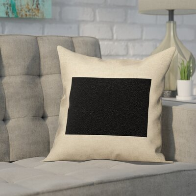 Sherilyn Wyoming Outdoor Throw Pillows Color: Black, Size: 16 x 16