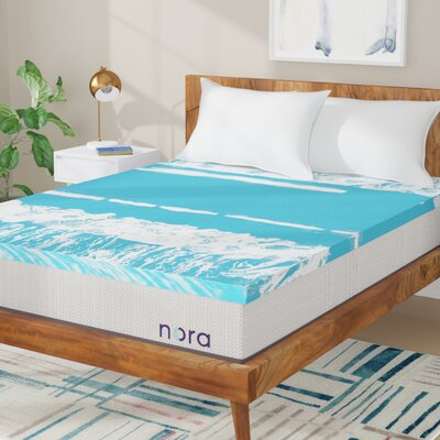 Swirl 2 Gel Memory Foam Mattress Topper Size: Twin